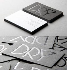 Dry Business Cards #businesscards #design