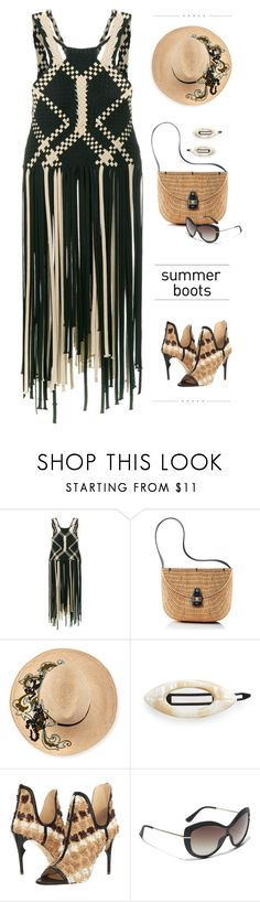 """Untitled #800"" by modernmoda ❤ liked on Polyvore featuring Alberta Ferretti, Mark & Graham, Etro, France Luxe, Jerome C. Rousseau, Salvatore Ferragamo, Levi's, airportstyle and summerebooties"