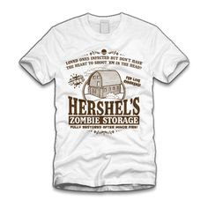 Hershel's Zombie Storage tee  OMG WANT!