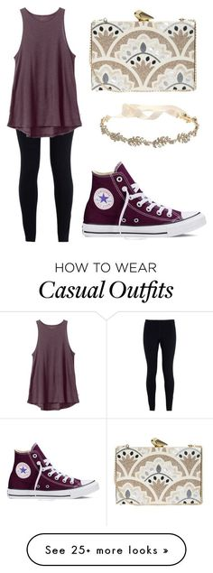 Casually elegant? by sugarplumfairy99 on Polyvore featuring NIKE, RVCA, Converse, Marchesa, KOTUR, womens clothing, women, female, woman and misses
