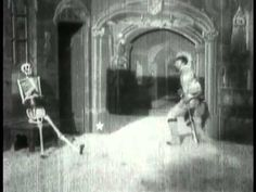 The Haunted Castle 1896 George Melies Silent Film lol, I was trying to put the volume up, till I realized sound didn't come to movies till 1900, and wasn't actually used til the 1920's when they started to actually get it working properly.