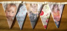 Happy 18th Birthday - Personalised Photo Fabric Bunting via   mollyfelicitydesigns.com