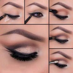 Un poco de sombra berenjena y vainilla para intensificar la  mirada de este maquillaje de ojos marrones paso a paso
