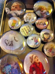 Glass magnets with your own pictures for glass, magnets, adhesive: http://www.ecrafty.com/c-81-craft-supplies.aspx