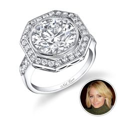 """It's no surprise that this stylish star had a hand in her ring design. """"It was fun working with Nicole Richie, I enjoyed her input,"""" says L.A. jeweler Neil Lane of collaborating with the House of Harlow designer on her 4-carat stunner."""