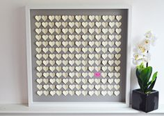 Wedding Guestbook Alternative 3D Hearts -Unique Guest Book LARGE Size- 169 - 240  guests (Includes Instruction Card and Pen). $160.00, via Etsy.