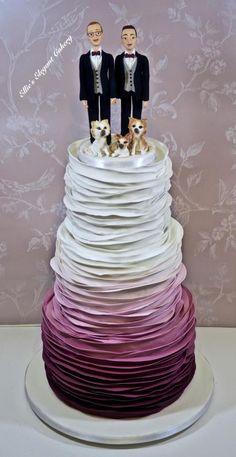Ruffle Wedding Cake :) by Ellie @ Ellie's Elegant Cakery - http://cakesdecor.com/cakes/263892-ruffle-wedding-cake
