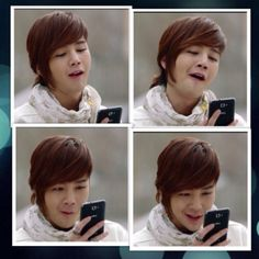 Jang Keun Suk ~~ Seo Joon is amused with what's on his phone (Love Rain)