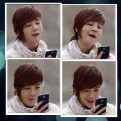 Jang Keun Suk ~~ Seo Joon is amused with what's on his phone (Love Rain)