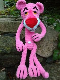 crochet pink panther