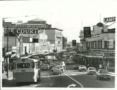 Title: Auckland City - Streets  Publicity Caption: Karangahape Road, one of Auckland's busiest shopping areas.  Photographer: R. Anderson   June 1975, Auckland  Archives New Zealand Reference: AAQT 6539 W3537 152 / B7589 www.archway.archives.govt.nz/ViewFullItem.do?code=24810680  For further enquiries please email research.archives@dia.govt.nz  Material from Archives New Zealand Te Rua Mahara o te Kāwanatanga