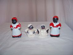 Vintage AfricanAmerican Salt and Pepper Shakers 2 sets by SanMonet, $30.00