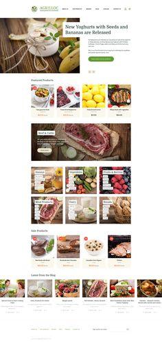 Food Store Responsive OpenCart Template #63370