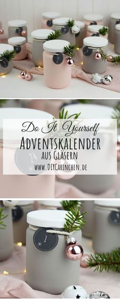 DIY – Upcycling Adventskalender aus alten Gläsern einfach selber machen – Keep up with the times. Christmas Calendar, Diy Advent Calendar, Christmas Time, Christmas Gifts, Plaid Christmas, Christmas Decor, Upcycled Crafts, Diy And Crafts, Diy Calendario