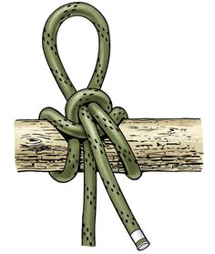 """The quick-release highwayman's hitch seems perfectly devised for the (sometimes guilty) pleasures of summer. It's just right for tying a johnboat off to an overhanging branch. And this get-gone-quick hitch is the go-to knot for when you sneak a canoe into the city lake at night (we'd never condone this) for some late bass action (we've heard only """"rumors"""" of big fish) and just might need to boogie out of there fast. Learn to tie it now before the bass start biting."""