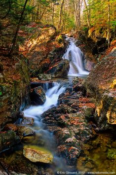 Waterfall in Quebec's Mont Tremblant park.