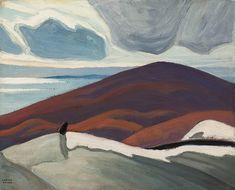 Lawren Harris - North Shore Lake Superior III (Lake Superior Sketch LXIX) 12 x 15 Oil on board (1926) Tom Thomson, Group Of Seven, Traditional Landscape, Fine Art Auctions, Art Of Living, North Shore, Artist, Lake Superior, Painting