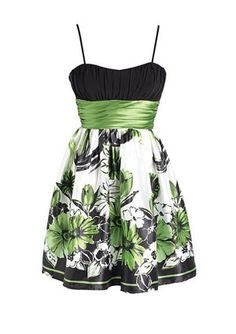 green Printed Dress snemetz