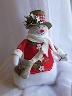 Купить Снеговик почтовик - Новый Год, новый год 2016, новогодний подарок, новогодний сувенир