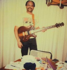 Rock And Roll Fantasy, Polaroid Photos, African American Men, Guitar, Handsome, Color, Polaroid Pictures, Colour, Guitars