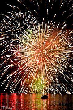 Firework festival in Lake Biwa, Japan