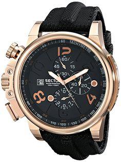 Sector  R3271776002 - Reloj de cuarzo para hombre, con correa de cuero, color negro