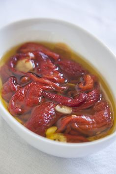 Roasted Red Pepper in Garlic Infused Olive Oil Garlic Infused Olive Oil, Infused Oils, Greek Meze, Fish Soup, Island Food, Roasted Red Peppers, Master Class, Lunch, Tours