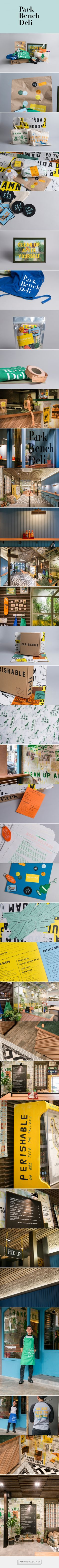 Park Bench Deli — Branding & Space on Behance - created via https://pinthemall.net