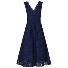 BuyJolie Moi Scalloped Lace Prom Dress, Navy, 8 Online at johnlewis.com