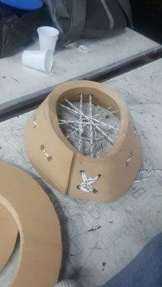 Experimentación. Superficie sección de cono con trama de soga como asiento