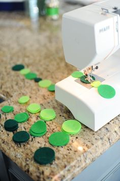 DIY: How to Make a Felt Circle Garland - Entertain | Fun DIY Party Craft Ideas