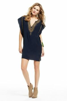 Elliot Bead Embellished Silk Dress