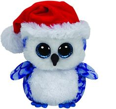Icicles Blue Owl Beanie Boo - Stuffed Animal by Ty Ty Animals, Ty Stuffed Animals, Plush Animals, Stuffed Toys, Christmas Beanie Boos, Halloween Beanie Boos, Christmas Owls, Christmas 2014, Christmas Ideas