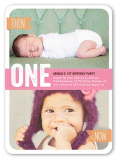 The 18 best inspiration birthday images on pinterest birthday shutterfly offers baby girl first birthday invitations in a variety of styles and colors create custom birthday invites for her special day stopboris Choice Image