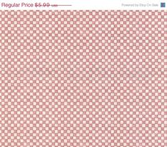 Small Faded Red Cream Country Check Cottage by WallpaperYourWorld