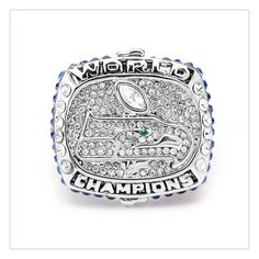 2013 The Seattle Seahawks NFL Championship Ring Fashion Luxury Full Crystal Champion Classical Souvenir Rugby Super Bowl Ring