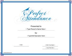 10 Best Attendance Images On Pinterest Perfect Attendance