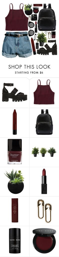 """""""Outfit 193"""" by holass ❤ liked on Polyvore featuring Windsor Smith, Aéropostale, Retrò, NYX, Butter London, NARS Cosmetics, Byredo, MANGO, Lalique and Bobbi Brown Cosmetics"""