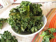 Kale Chips w/ Parmesan & Garlic