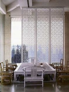 These Mashrabiya screen panels represent Chinese style furniture. These screens…