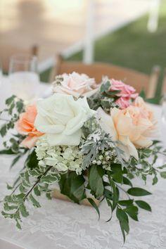 Romantic Mint & Peach Arboretum Wedding   Read more - http://www.stylemepretty.com/california-weddings/fullerton/2014/02/07/romantic-mint-peach-arboretum-wedding/