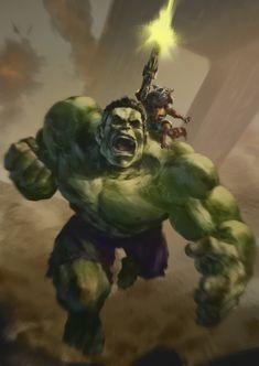 The Incredible Hulk & Rocket the Raccoon - Marvel Marvel Fanart, Films Marvel, Marvel Comics Superheroes, Marvel Characters, Marvel Heroes, Marvel Avengers, Marvel Cinematic, Captain Marvel, Stan Lee