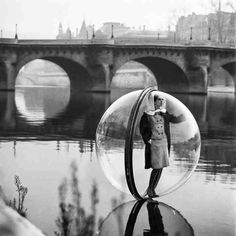 Melvin Sokolosky: 1960s Bubble series, depicting models suspended above the River Seine in Paris