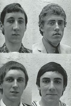 The High Numbers (The Who) in 1964 at Fleetwood Studios. Townsend, Daltry, Moon, and Entwistle.