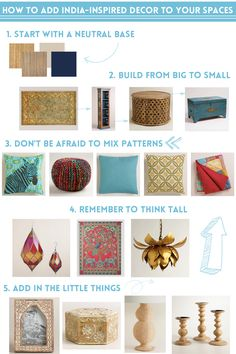 From rugs to wall tapestries, jewelry to clothing, Indian culture is dressed top to bottom with beauty. If you're wanting to add India-Inspired Decor to your spaces, here's how to do it easily, beautifully, and all from World Market. via Erin Lauray >> #WorldMarket #BestExoticMarigold Sweepstakes #LoveBlooms