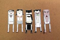 Superheroes' bookmarks