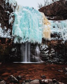 """2,067 Likes, 34 Comments - halifaxnoise.com (@halifaxnoise) on Instagram: """"From @seandmcmullen — Baxter's Harbour partially frozen waterfall.  #waterfall"""""""