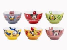 Mickey and Friends Cereal Bowls Mickey Mouse House, Mickey Mouse Kitchen, Disney Mickey Mouse, Minnie Mouse, Disney Themed Rooms, Disney Rooms, Disney Kitchen Decor, Disney Home Decor, Cozinha Do Mickey Mouse