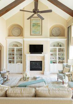 Two Story Family Room Marker Girl Home by Karen Davis