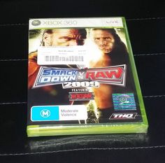 WWE Smackdown vs Raw 2009 Xbox 360 Game for sale online Xbox Games, Xbox 360, Wwe, Seal, Wrestling, Lucha Libre, Harbor Seal